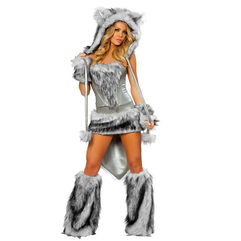 Good Quality Sexy Women Party Halloween Costume Wolf Cosplay ...