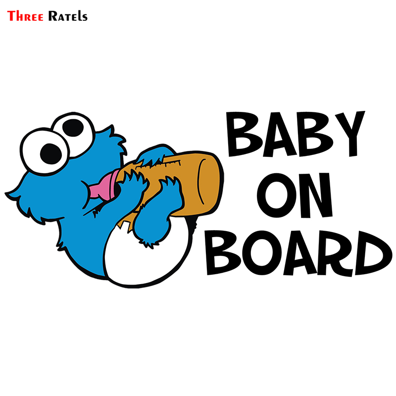 Three Ratels ALWW203ZH # 24x11cm Baby On Board Colorful Car Sticker Funny Car Stickers Styling Removable Decal