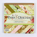 7 ''bonito aves flor e borboleta padrão de 40 folhas do vintage almofadas de papel fundo de papel scrapbooking