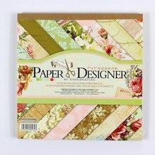 """7 """"niedlich vintage blume vögel und schmetterling muster 40 blätter scrapbooking papier hintergrund papier pads"""
