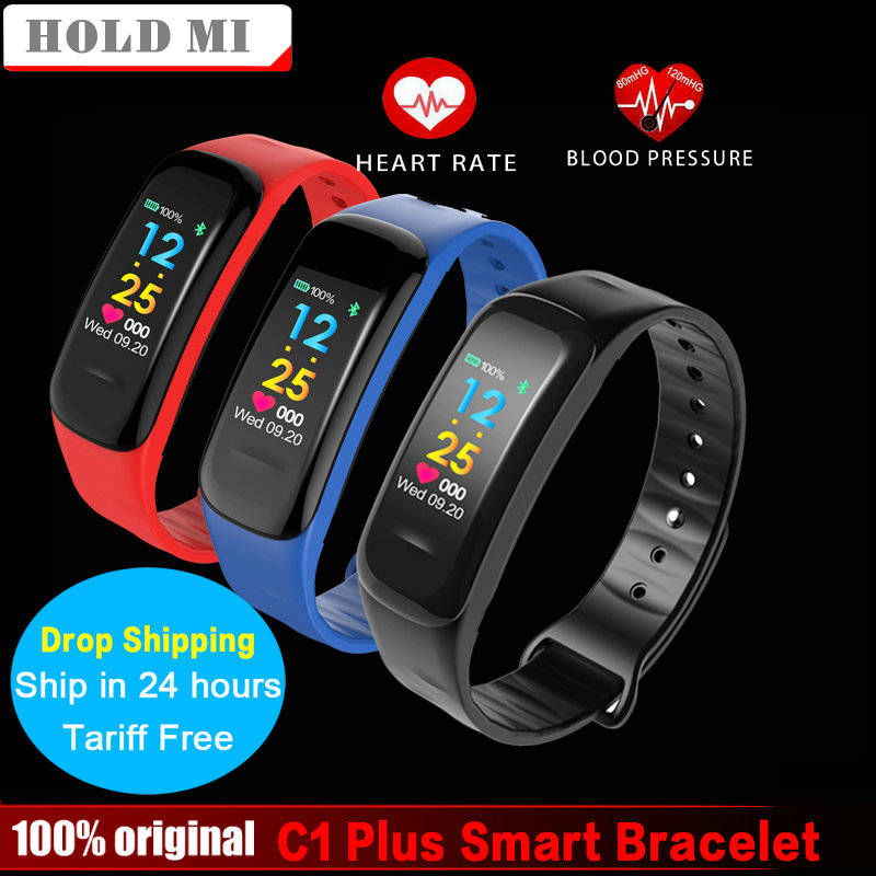 C1 Plus Color Screen Smart Bracelet Blood Pressure CK18 Smart Band Heart Rate Monitor Fitness Tracker Sport Smart Wristband id118 plus smart wristband fitness