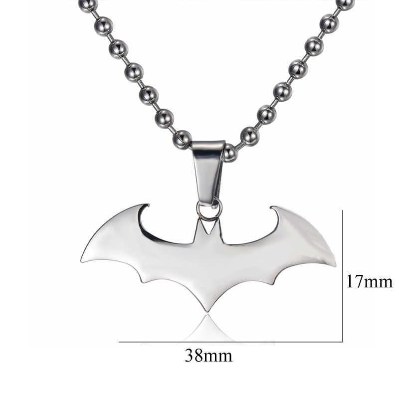 Cardy Koala mujeres/hombres COLLAR COLGANTE diseño clásico Batman colgante de alta calidad de acero inoxidable Collar de plata colgante