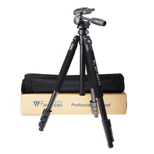 Professional Aluminum WF-6663A Photo Video Tripod with 3-way Pan Head Ball Head Portable Digital Camera Tripod