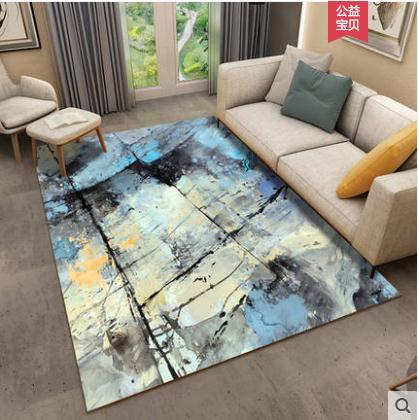 Haute qualité salon table basse tapis chambre chevet couverture rectangulaire tapis soie couleur unie tapis long cheveux tapis