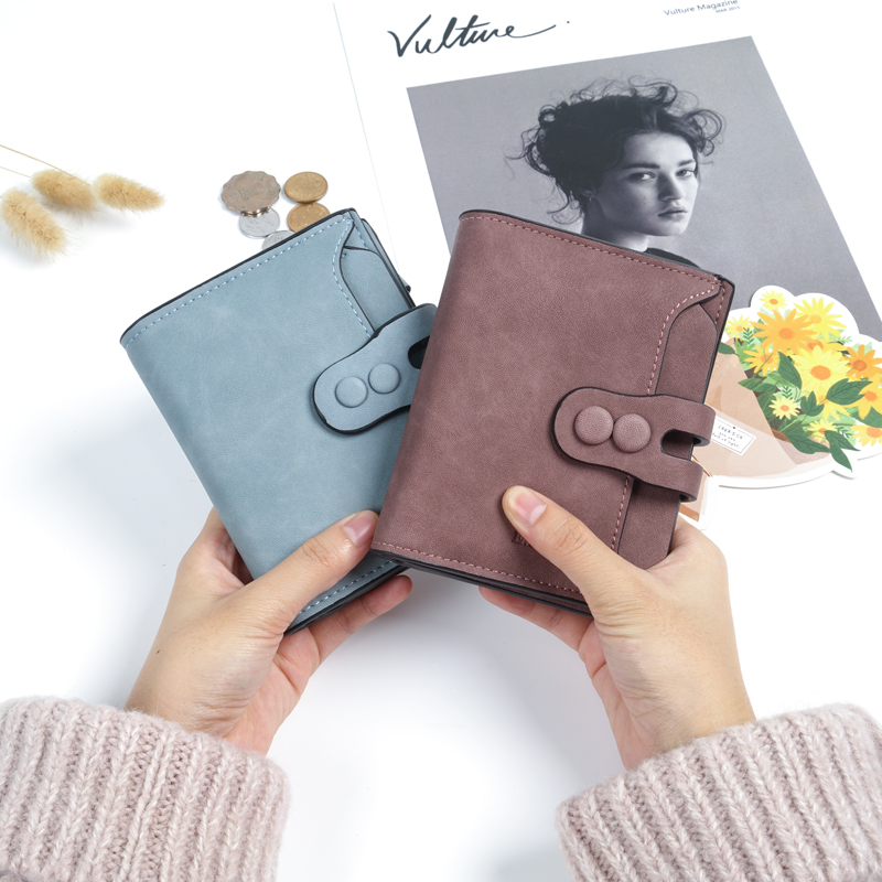 Wallets Women Female Purse Short Ladies Wallet Small PU Leather Vintage Girls Coins Purse Card Holder Fashion Carteira