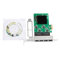 HOT 10/100/1000M PCI-E PCI Express to 4x Gigabit Card 4 Port Ethernet Network Adapter