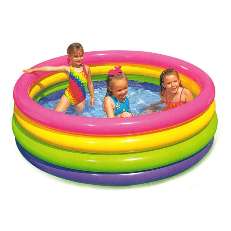 ФОТО Intex inflatable pool 56441 neon child swimming pool bathtub paddling pool 166*46cm