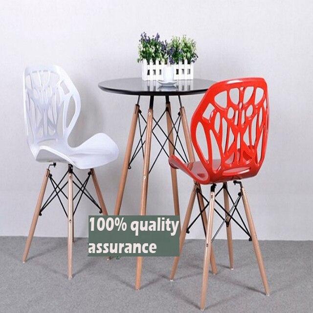 Новая мода Специальное Предложение Emaes стул, 100% массива дерева + ABS стул, стильный обеденный стул, дуб бар стул, Столовая Мебель