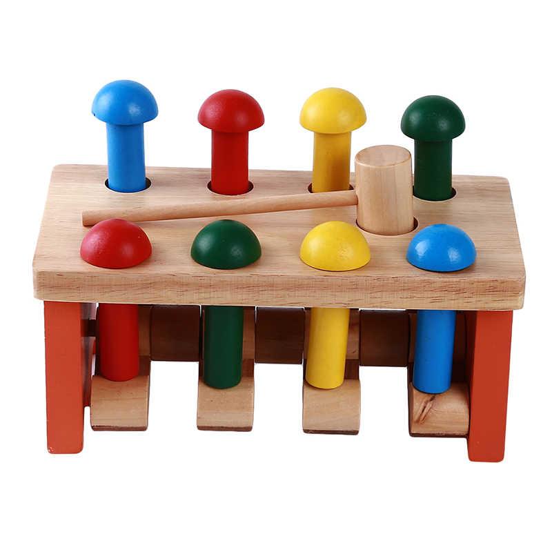 Mainan Kayu Bayi Berjalan Single Spiral Trolley Pendidikan Awal Mainan Kreatif Belajar Pendidikan Mainan Keranjang