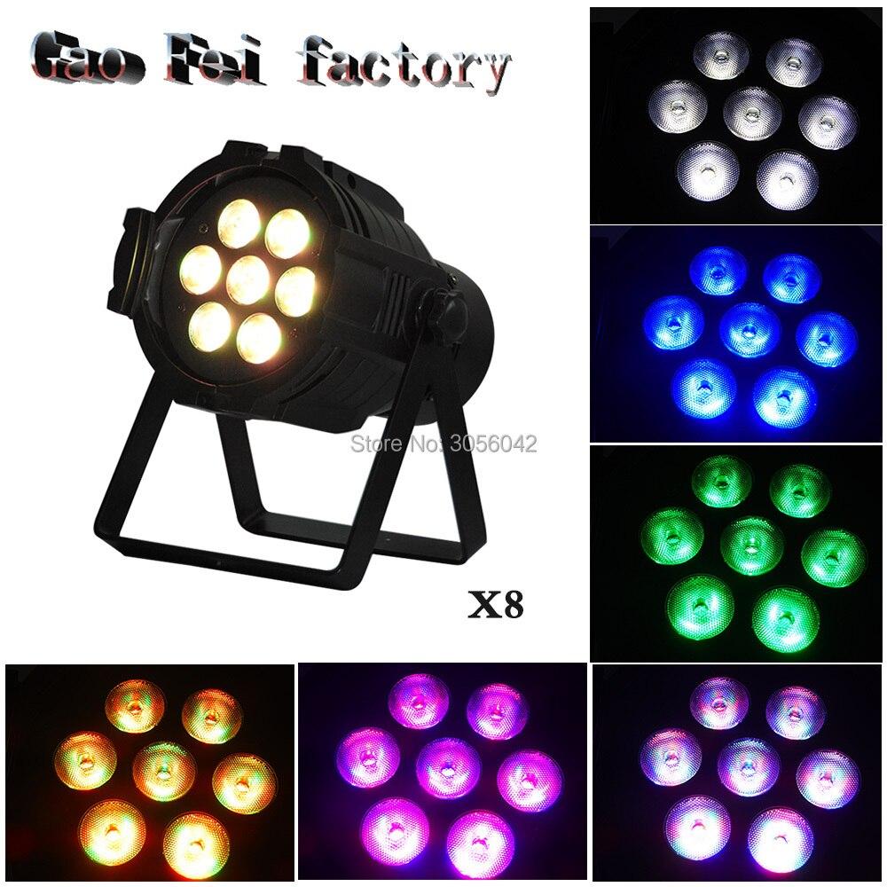 8pcs/lot 7X12W led Par lights RGBW 4in1 par led dmx512 disco lights professional stage dj equipment 1pcs lot rgbw 4in1 led par 7x12w rgbw par light mini dj stage lights disco
