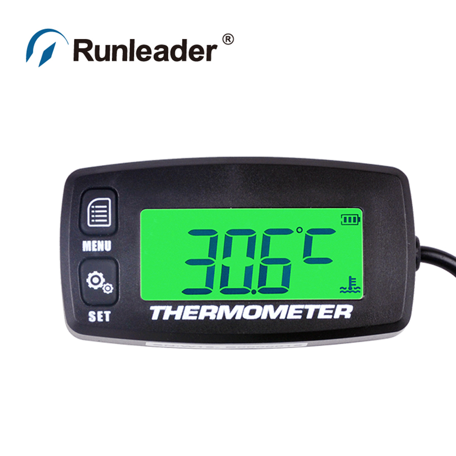 Runleader RL-TS001 PT100 -20 +300 TEMP sensor thermometer temperature meter for motorcycle truck drilling marine machine engine ts001 pt100 20 300 2 temp sensor temp meter temperature thermometer for generator trimmer trailer stump grinders snowmobile