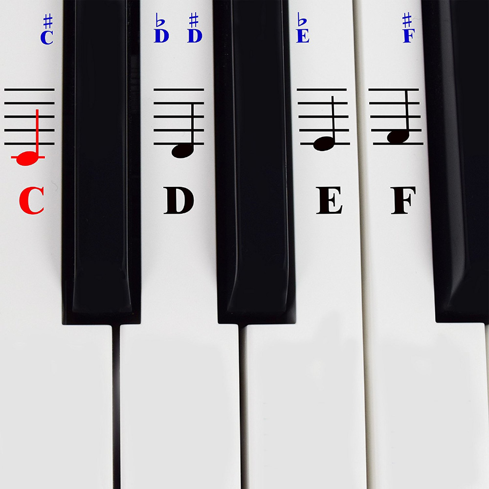 The ONE Piano Stickers For 49 54 61 76 88 Keys Digital Electronic Keyboard Music Instruments Children Educational Accessories