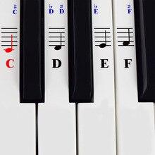 The ONE наклейки для пианино для 49 54 61 76 88 клавиш цифровая электронная клавиатура музыкальные инструменты Детские аксессуары для образования