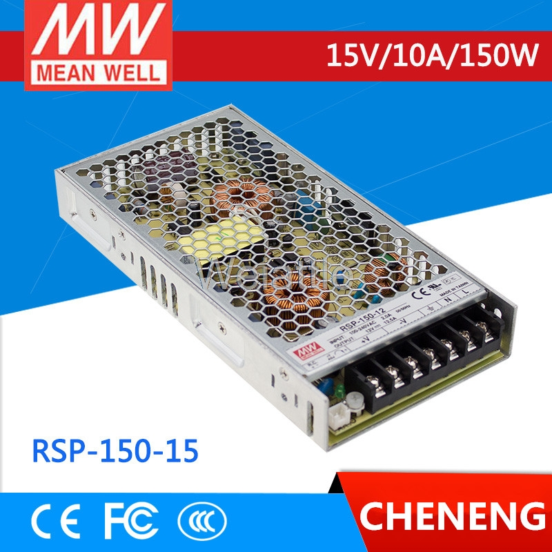 MEAN WELL original RSP-150-15 15V 10A meanwell RSP-150 15V 150W Single Output with PFC Function Power Supply selling hot mean well rsp 150 27 27v 5 6a meanwell rsp 150 27v 151 2w single output with pfc function power supply