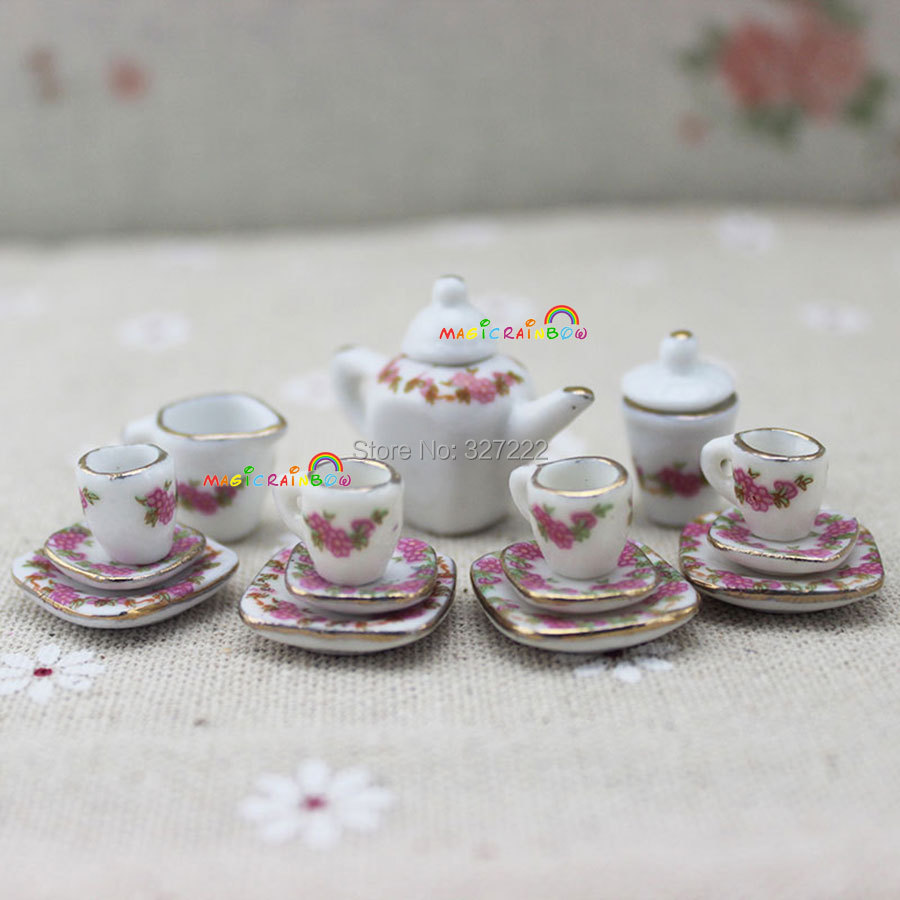 1 12 Scale Dollhouse Miniatures Mini Coffee Tea Set