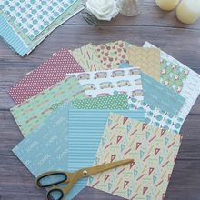 28 sheets DIY 15.2*15.2cm going to school theme craft paper as scrapbooking creative handmade gift use