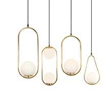 LBAH Modern Living room/Bedroom/Coffee/Restaurant Pendant Light Nordic Clothing Decoration Glass Ball Lamp