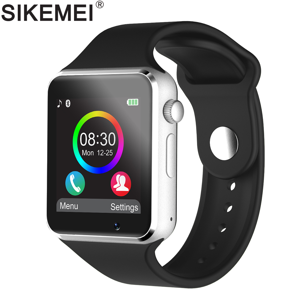 SIKEMEI Bluetooth Smart Watch Smartwatch Phone with Pedometer Touch Screen Camera Support TF SIM Card for Android iOS Smartphone z50 smart watch phone bluetooth3 0 connected with camera support sim card tf card smartwatch for ios and android smartphone