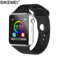 SIKEMEI Bluetooth Smart Watch Smartwatch Phone with Pedometer Touch Screen Camera Support TF SIM Card for Android iOS Smartphone
