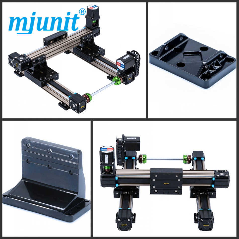 mjunit MJ50 xy axis with 1300x1300mm stroke length mini linear actuator with cheap price direct mount austria ruwido i 1k 100k 220k 470k axis length 50mm