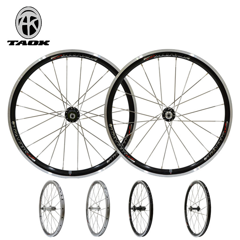 цена на 20 inch wheel set Mountain bike folding bicycle wheel V brake 451 bike wheel