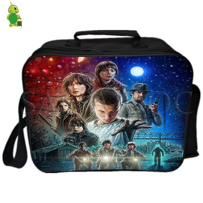 Image 2 - Stranger Things Eleven Lunch Bag Fresh Keeping Ice Cooler Bag Thermal Insulation Bag Women Men Picnic Camping Shoulder Bag-in Lunch Bags from Luggage & Bags