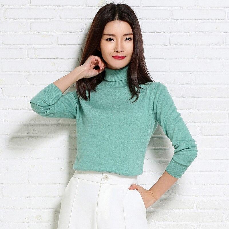 adohon 2018 dámské zimní kašmírové svetry a auntmun turleneck dámské pletené vysoce kvalitní teplé samice zahušťující svetry