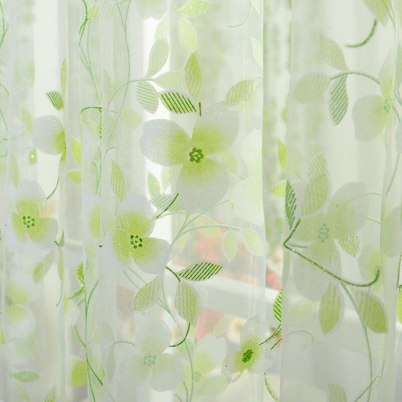 5 bufanda de colores Sheer Voile puerta ventana cortinas cortina panel de cenefa cortinas AA 3 colores 150 cm x 180 cm Panel transparente Voile ventana cortina habitación Floral tul bufandas cortinas
