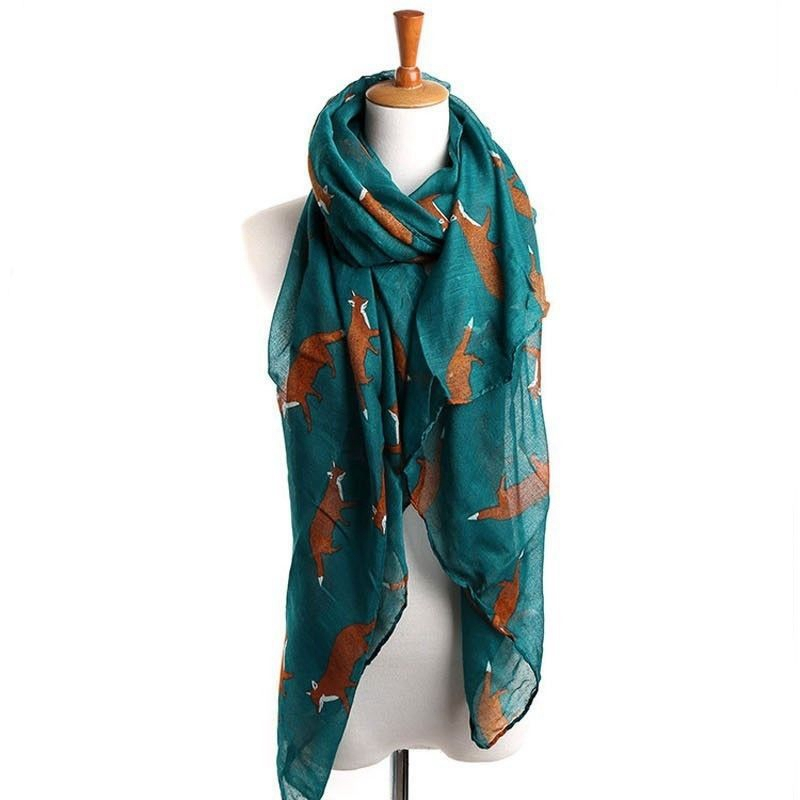 women long Animal Floral soft cotton   Scarf     Wrap   Shawl   scarves   fashion stole
