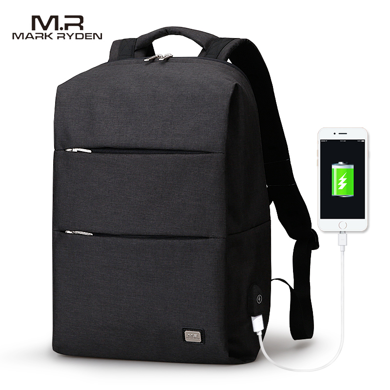 Mark Ryden New Men Backpack For 15.6 inches <font><b>Laptop</b></font> Backpack Large Capacity Stundet Backpack Casual Style Bag Water Repellent