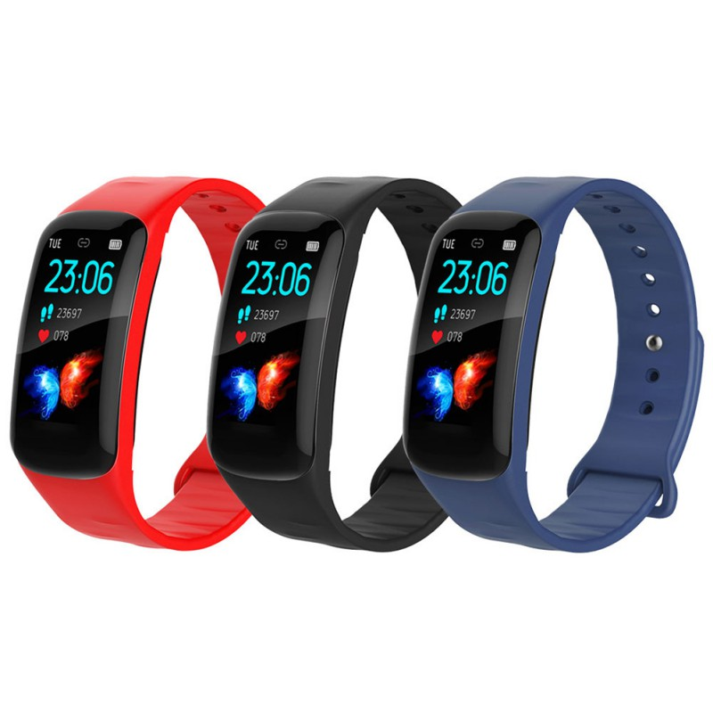 2019 New Stylish Waterproof Smart Bracelet Watch Blood Pressure Heart Rate Monitor Sport Running Bracelet Fitness in Smart Wristbands from Consumer Electronics