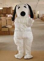 2014 white dog mascot adult size dog mascot costume