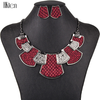 MS1504446 Fashion Jewelry Sets Hight Quality 2 Colors Necklace Sets For Women Jewelry Black Zinc Plated Fabric Unique Design
