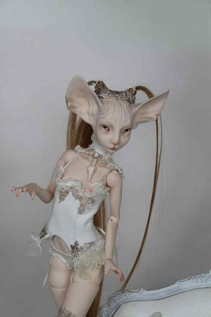 HeHeBJD SD olhos livres 1/4 bonita sphynx gato menina BJD sd toy para vendas frete grátis quente
