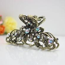ФОТО women's metal hair clips large crystal hair claws fashion hair jewelry hair accessories wholesale