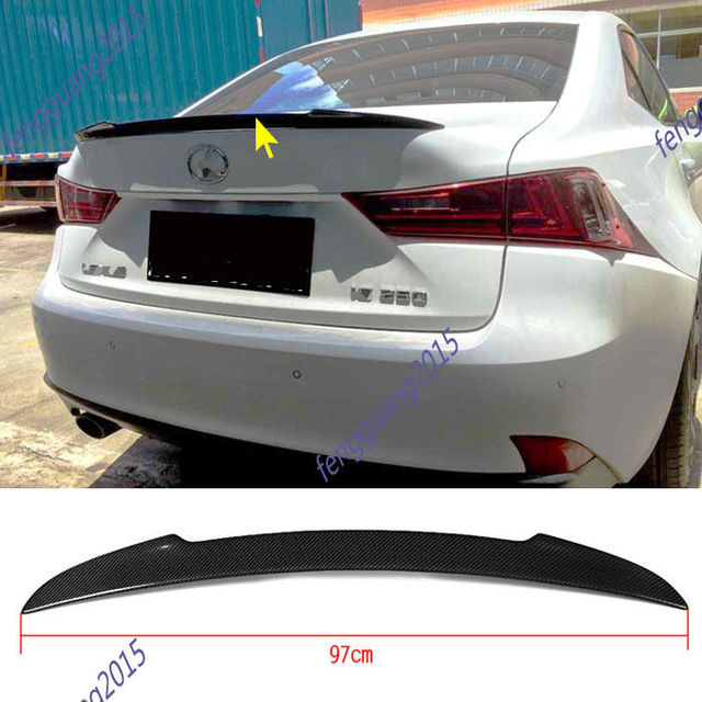 for2013 2016 lexus is250 real carbon fiber tail rear wing spoiler-in