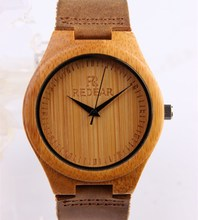 Trendy Nature Wood Sport Bamboo Wrist Watch Women New Arrival Wooden Men watch women and men in lovers watch pair
