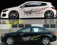 A Set Dragon Totem Luxury Auto Body Side PVC Stickers Racing Decals Decoration