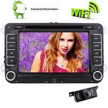 Car DVD 2 Din Player 7 inch Steering Wheel For Volkswagen VW GOLF56 POLO PASSAT 4-Core Android 6.0 GPS Navigation For Volkswagen