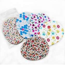 1 пара Полустельки с цветочным принтом стелька для обуви коврик на высоком каблуке дышащая подушка удобные туфли Подушка на каблуке