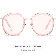 High Quality Acetate Sunglasses Women Brand Designer Oversize Korean Kurt Cobain Sun Glasses for Nylon Clear Mirror Len