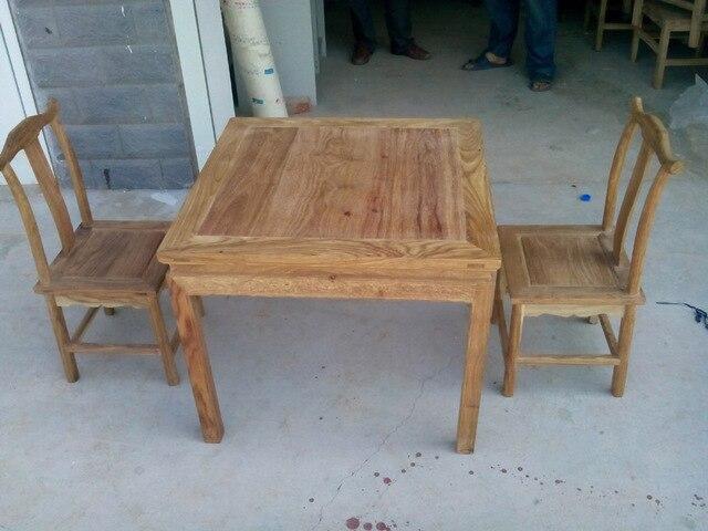 Aziatische peer houten tafel en stoelen de afrikaanse peer houten
