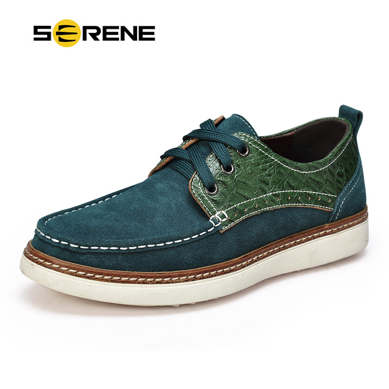 serene brand mens boat shoes winter warm fur casual shoes