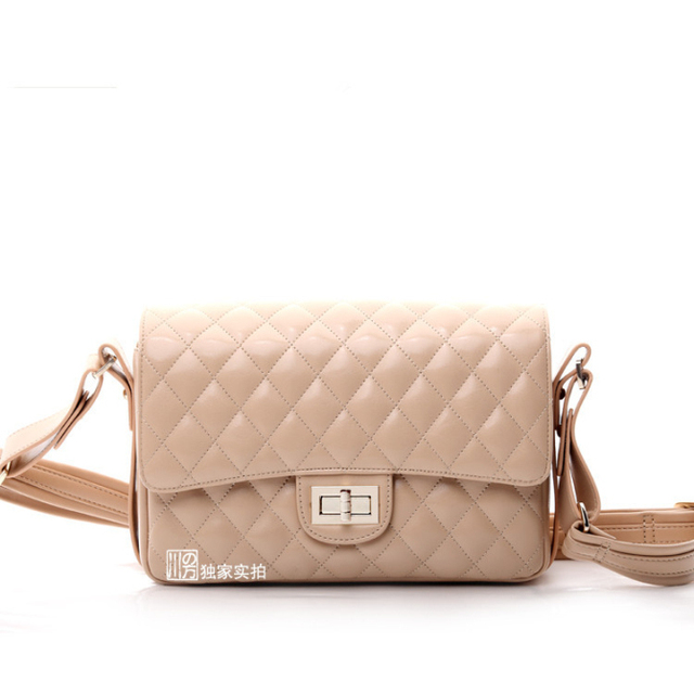 The fashion retro shoulder bag Messenger Lingge the handbags apricot rose red burgundy black four color