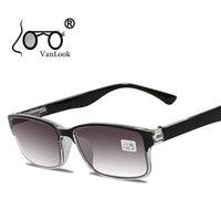 Мужские очки для чтения для зрения Градиент Серый объектива Анти UV400 Стекло очки Lectura Ретро + 1 + 1,25 + 1,75 2 2,25 2,75 3,25