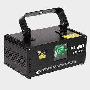 Image 2 - ALIEN projecteur Laser à distance, vert 50mw, éclairage professionnel DMX 512, Scanner, lumière pour spectacle pour Disco DJ