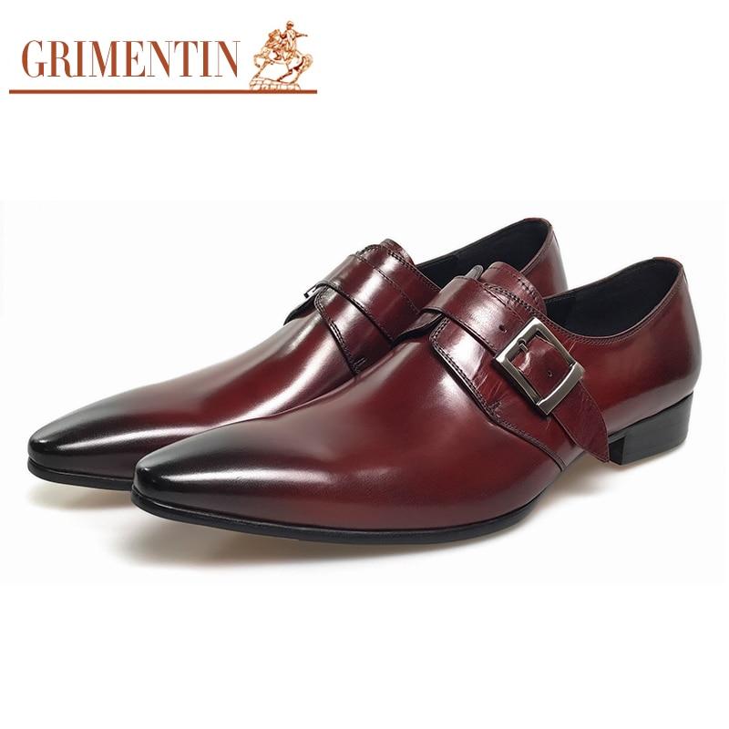 grimentin boda cuero genuino zapatos para hombre venta negro marrón