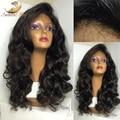 Glueless Corto Bob peluca Llena Del Cordón Pelucas de Pelo Humano Para Las Mujeres Negras Ondulado brasileño Virginal Del Pelo Humano Del Frente del Cordón Pelucas de Pelo Bob Corto peluca