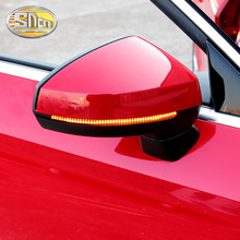 лучшая цена 2Pcs For Audi Audi A3 S3 RS3 A4 B7 B8 B9 A5 A6 Q3 Q5 Q7 Rear View Mirror Light Flowing LED Turn Signal
