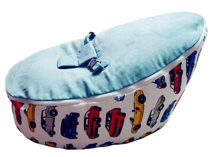 Frete grátis disco conversível cadeira de bebé beanbag, dois topos bebê pufes cobrem apenas